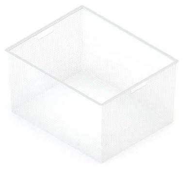 Корзина мелкосетчатая на 3 рельса, 527х427х285, белый