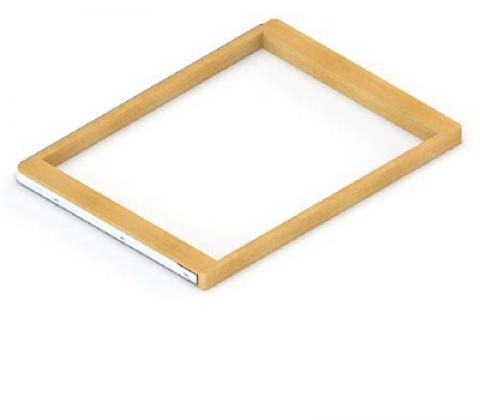 Рамка для корзин выдвижная с доводчиком, светлое дерево, серия 460, L=607, белый