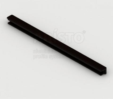 Планка декоративная для полки проволочной, темное дерево, L=607
