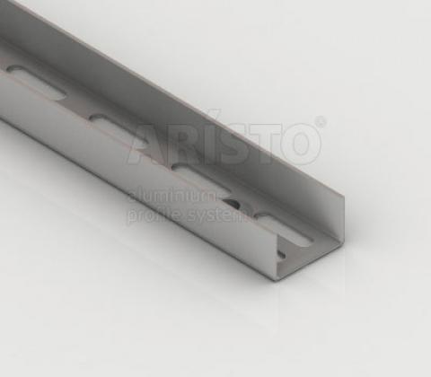 Направляющая настенная, L=1200, металлик