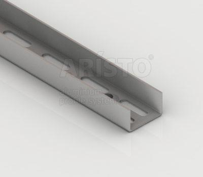 Направляющая настенная, L=2400, металлик