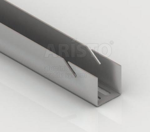 Направляющая навесная, L=1200, металлик