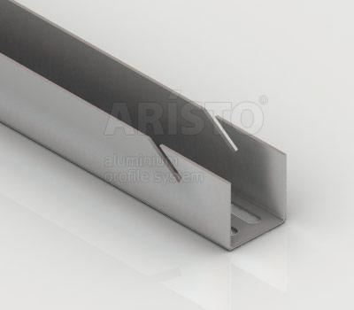 Направляющая навесная, L=2300, металлик