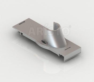 Держатель штанги стеллаж-стеллаж (2 шт. в комплекте), металлик