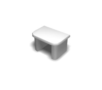 Заглушка направляющей настенной, белый