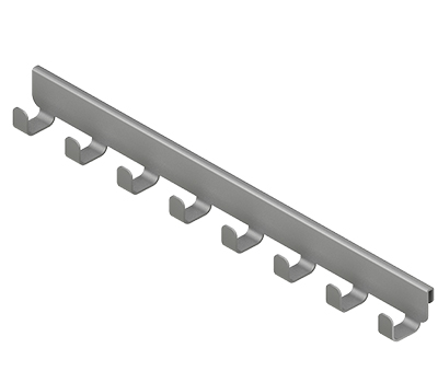 Крючок боковой, серия 460, металлик
