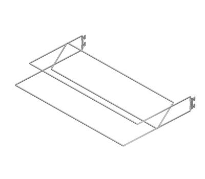 Полка для обуви двухъярусная, L=607, металлик