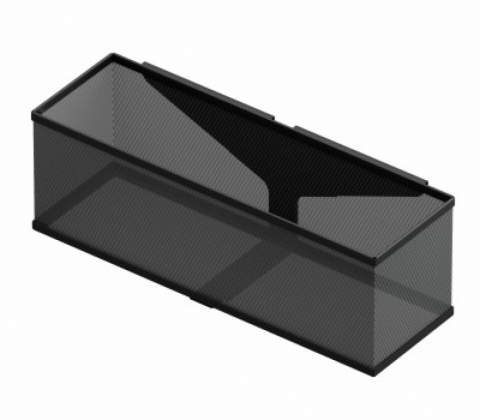 Корзина навесная, 42,5х14х13, черный