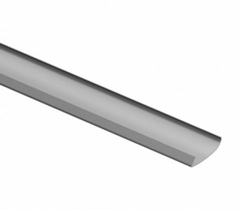 Декоративная накладка для несущего рельса, L=2030, металлик